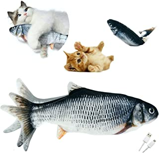 J.C. Lee's Flopping Fish Cat Toy Flippity Fish Cat Toy Automatic Cat Toy Cat Kicker Toy Catnip Toy Electric Cat Toy Waggin...