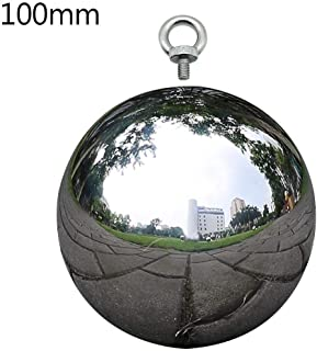 304 Stainless Steel Gazing Mirror Ball,Hollow Ball Rivet Nut Ball with M6 Stainless Steel Galvanic Mirror Ball with Screw for Yard Garden