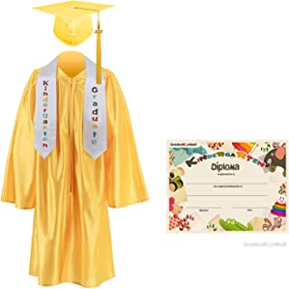 GraduationMall Kindergarten Graduation Cap Gown Stole Package with 2019 Tassel, Certificate