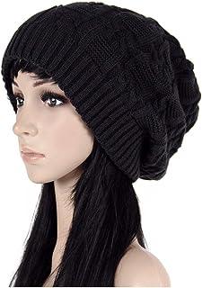 ALL IN ONE CART Women Oversize Knit Hat Winter Warm Long Beanie Hat