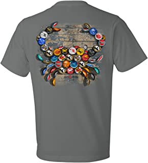 | Natty BOH Bottle Cap Crab Shirt in Storm Grey