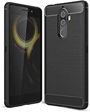 Lenovo K8 Note case Carbon Brushed Soft TPU Shockproof cover - Black
