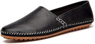 DADIJIER Mocassins for Hommes Slip-on Casual Chaussures De Marche en Cuir Véritable Léger Semelle en Caoutchouc Antidérapa...