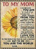 メッセージ毛布 私のお母さんに、 わたしは、あなたを愛しています 印刷された手紙 パーソナライズされました ベッドスロー スーパーソフト フリースの毛布 ソファーソファーベッドの場合 誕生日プレゼント,180*230cm