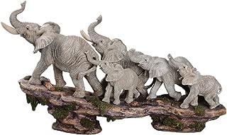 Comfy Hour Elephant Family on Cliff Figurine, 10.03