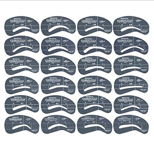 Augenbrauen Schablone - Kontur Kit / 24 Stück im Set - Augenbrauenschablone - MakeUp Hilfe/Augenbraue Vorlage