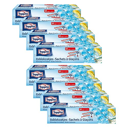 Toppits Eiswürfelbeutel, 8er Pack (8 x 10 Beutel)