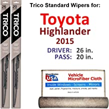 Best 2015 highlander wiper replacement Reviews