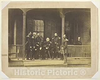 Historic Pictoric Photo : Lieutenant General Scott, General-in-Chief, U.S. Army and Staff, Mathew Brady, c 1850, Vintage Wall Decor : 48in x 36in