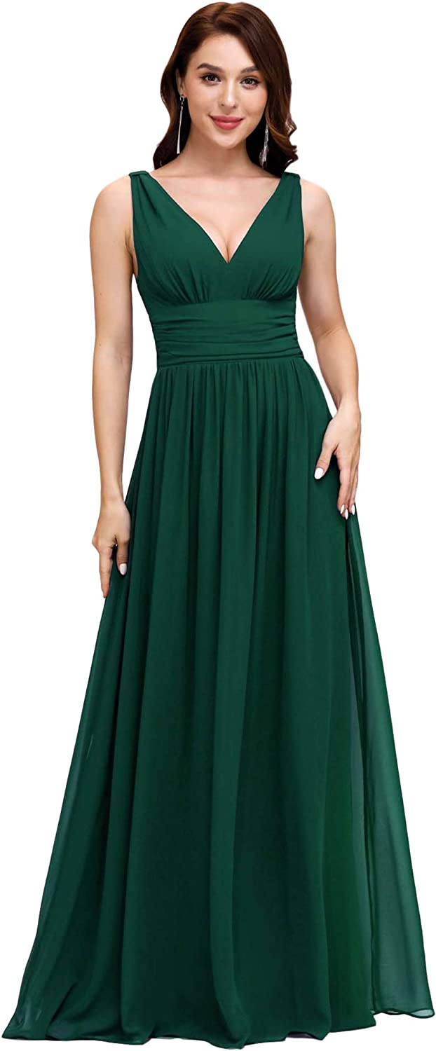 1940s Dress Styles Ever-Pretty Sleeveless V-Neck Semi-Formal Maxi Evening Dress 09016 $49.99 AT vintagedancer.com