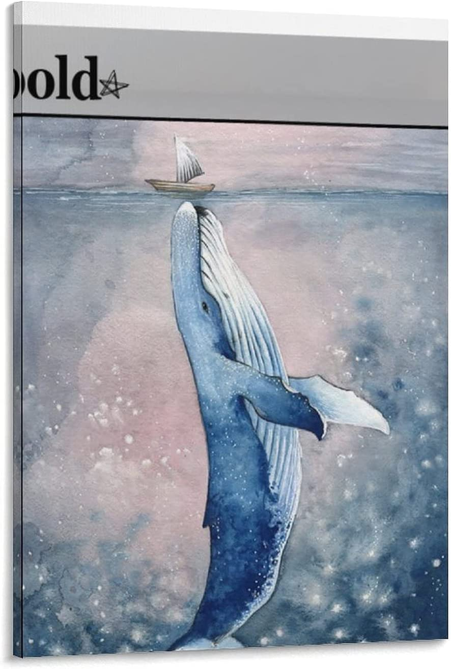 Marine Animal Selling and selling Canvas Poster Big Super sale Printmaking Boat Whale Art Wall