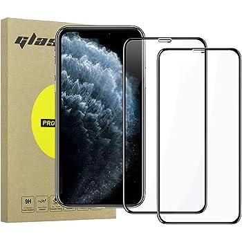 """Simpeak 2-Unidades Cristal Templado Compatible para iPhone 11 Pro MAX 6.5"""" [2 Pcs], Protector de Pantalla Premium Vidrio Templado Compatible con iPhone XS MAX Bubble Free/HD Clear - Negro"""