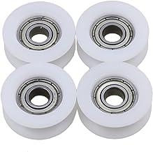 BQLZR 6x24x9mm witte U groef gids katrol wiel rail kogellagers voor meubels katrol Pack van 4