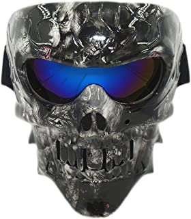 Vhccirt Airsoft Skull Mask - Full Face Goggle Mask Sandproof Mask for Motorbike Mask Riding Comic Role Cos Mask, Party and...