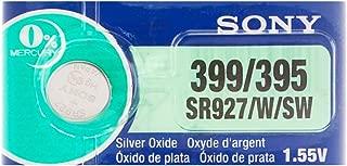 Sony 399/395 (SR927/W/SW) 1.55V Silver Oxide 0%Hg Mercury Free Watch Battery (1 Battery)
