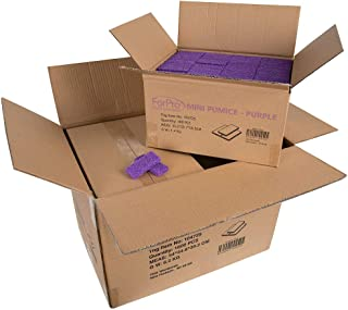 ForPro Basics Mini Pumice Pad Purple - Case Pack 4 Boxes, 400-Count Each Box (1600 Total Pieces)