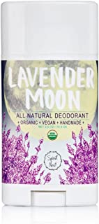 Spirit Nest Lavender Moon Organic, 100% Natural, Vegan, Aluminum Free Deodorant, All Day Protection, 2.5oz
