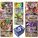 RULY - Juego de cartas de Pokémon (60 unidades, 132 Seltene GX Karte+62 Tag Team GX Karten+6Trainer), tarjetas Flash Pokemon V Vmax, juego de cartas de batalla interactivas, para niños
