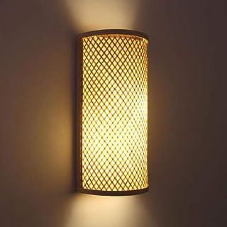 Applique Murale Rétro Bois Abat-Jour En Bambou Lampes Rustiques Salon EZ7 Appliques Murales Chambre À Coucher Vintage Anti...