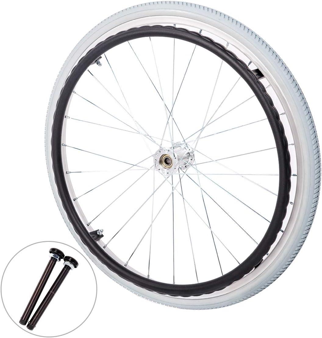 Hi-fortune Rear Wheels with W Shape Plastic Handrail for Wheelch