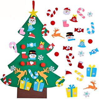 Unspecific DIY Christmas Tree for Children, Wall Decor for Christmas, Felt Christmas Tree Set for Kids Room