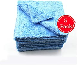 Kingsheep Edgeless Microfiber Towel Car Drying Wash Buffing 5 Pack 16