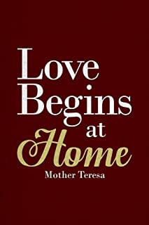 Mother Teresa Love Begins at Home Red Famous Motivational Inspirational Quote Cubicle Locker Mini Art Poster 8x12
