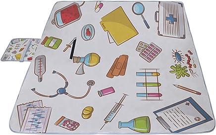 AGIRL Símbolo de la Ciencia y la educación Estera de Picnic 57 '' x 79 '' (140 cm x 200 cm) Estera de Playa para Picnic con Impermeable para niños Playas de Picnic y Bolsa Plegable al Aire Libre