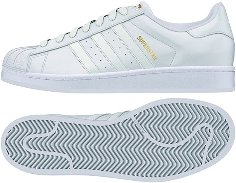 adidas Superstar, Baskets Basses homme, Blanc (Footwear White), 41 ...