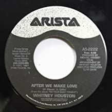 WHITNEY HOUSTON 45 RPM AFTER WE MAKE LOVE / MIRACLE