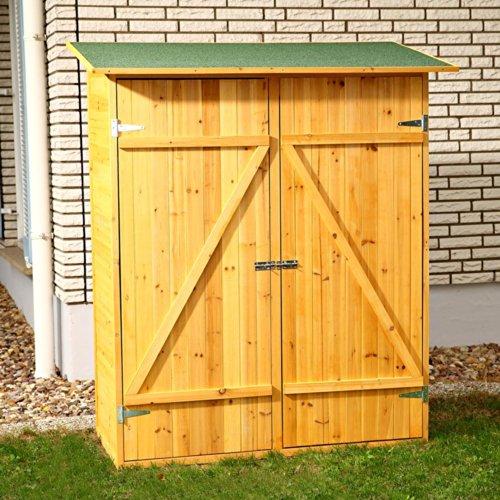 Melko Gerätehaus XXL Geräteschrank Geräteschuppen Gartenschrank, aus Holz, braun, 162 x 140 x 75 cm - 2