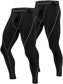 Roadbox Men's Fants Pants 2 Pack، Workout Warm Dry Cool Sports Leggings Tights Baselayer