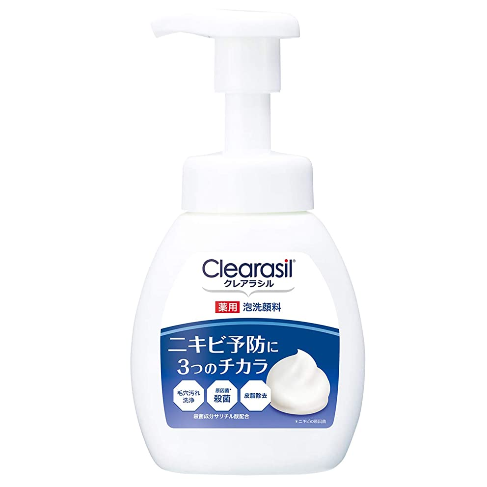 光沢リス帝国主義クレアラシル 薬用泡洗顔フォーム 10 本体 200ml