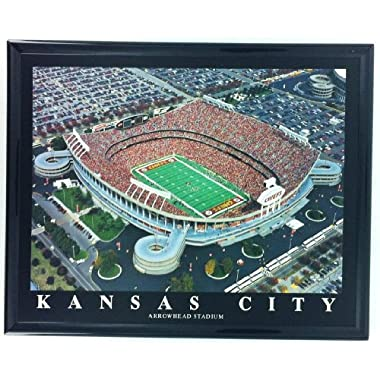 Frame Football Kansas City Chiefs Aerial Arrowhesd Stadium Print Wall Art F7559A