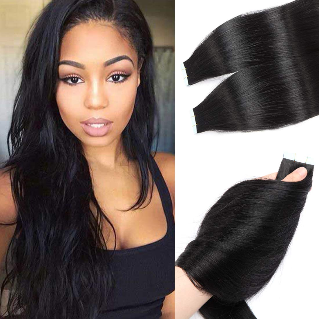 S-noilite Rooted Tape in Human Max 53% OFF Hair Women 10 for 40Pcs Extension Max 40% OFF