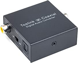 Digital Coaxial to Optical Converter, VANDESAIL Bi-Directional Coax Digital Audio Converter