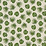 Fabulous Fabrics Dekostoff Halbpanama Palme – Natur —