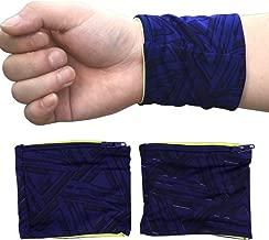 CHIC-2pcs Sport Armband Handgelenktasche Fitness Gym Schwei/ßarmband Armbandtasche Wristband Rei/ßverschluss Atmungsaktiv Handgelenkscheine mit Geldbeutel Baskettball Fussball