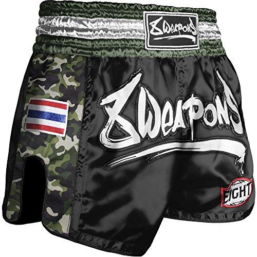 8 WEAPONS Shorts, Ultra Camo, Dark Green, Muay Thai Hosen, Short, Thaiboxhosen Größe XL