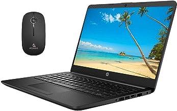 2020 Newest HP 14 Inch Non-Touch Premium Laptop, AMD Athlon Silver 3050U up to 3.2 GHz, 4GB DDR4 RAM, 128GB SSD, WiFi, HDMI, Windows 10 in S, Jet Black + NexiGo Wireless Mouse Bundle