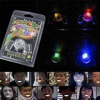 Jeeke Halloween Party Flashing Teeth, Flashing Mouth Guard LED Light up Mouth Braces Piece