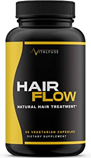 VitalFuse Hair Skin and Nails Vitamins with Biotin & Vitamin C for Ultimate Hair Growth, Length, and Strength & Reduction of Hair Loss; Vegetarian Friendly, Non-GMO, 60 Capsules
