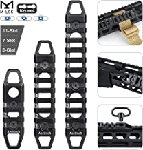 Aecktech Compatible M-LOK/Keymod Picatinny Rail, 3-Slot 7-Slot 11-Slot M-LOK/Keymod Aluminum Picatinny Rail Section Accessories for M-LOK/Keymod System