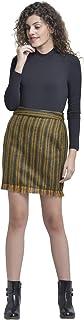 Martini Women Fringed Pure Wool Short Skirt (Blue, Size : 28-32)