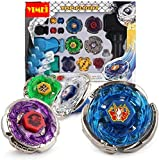 YIMEI Battling Tops Metal Master Fusion Storm Pegasus/Flame Libra/Earth Eagle/ Lightning L-Drago Spinning Launcher Tops Toys Gift for Boys