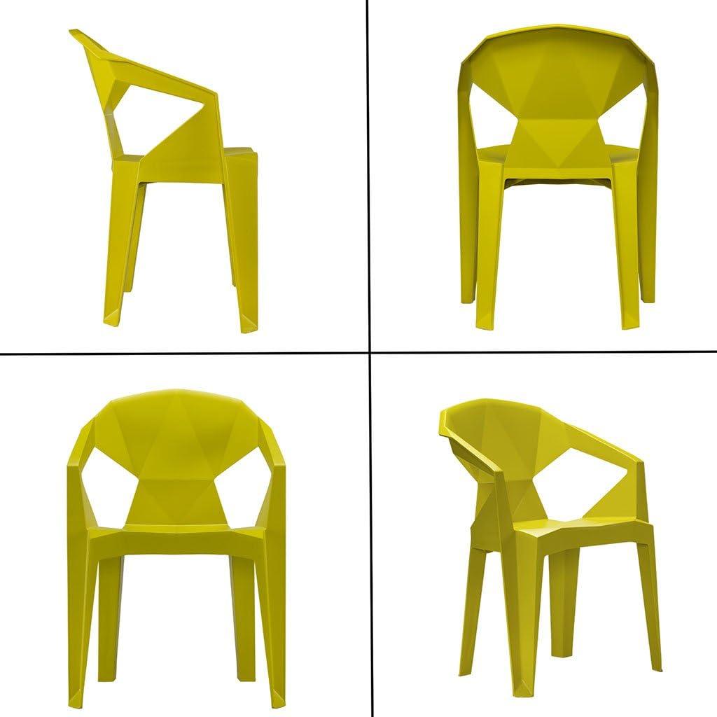 Chaise en Plastique De PP, Chaise Européenne De Géométrie D'origami Polygonal, Empilable Économisent l'espace,B F