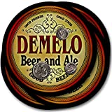 ZuWEE Brand Classic Beer & Ale Coaster Set Personalized with the Demelo Family Name
