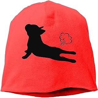 French Bulldog Yoga Men & Women Winter Helmet Liner Fleece Skull Cap Beanie Hat for Hiking Ash