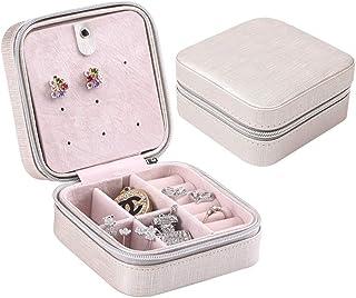 صندوق صغير الحجم للمجوهرات والاقراط بتصميم رائع قابل للحمل وملائم للسفر