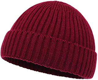 MZHHAOAN Knitted Hats for Women,Autumn and Winter Knitted Cap,Outdoor Dome Cuffed Hooded,Landlord Cap